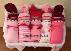 Windelbabys 'Girl', die etwas andere Windeltorte! von Windeltorten By Evi; Windel Babys, Windelbabies