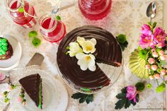 After Eight Chocolate Cake with Peppermint Liquor Crème.