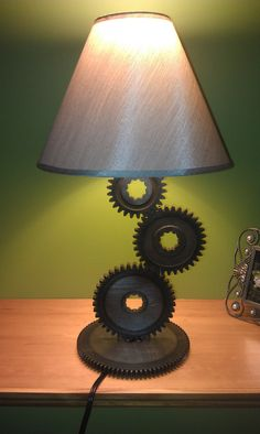 Gear Lamp SPRING SALE by MotoMetalFab on Etsy, $50.00