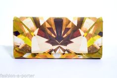 Alexander McQueen Kaleidoscope Crystal Print Satin and Leather Clutch Alexander Mcqueen Clutch, Leather Clutch Bags, Fashion Accessories, Great Gifts, Satin, Crystals, Ebay, Vintage, Outfits