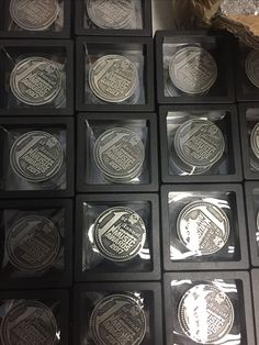 Sinister Guitar Picks Designed And Produced These Commemorative Coins. They  Were Made To Commemorate Loudwire's 1st Annual Music Award Show Held At The Novo Theater Oct 24th, 2017. Here they are packed to be shipped to the event.