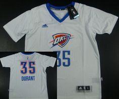 Oklahoma City Thunder #35 Kevin Durant Revolution 30 Swingman 2014 New White Short-Sleeved Jersey