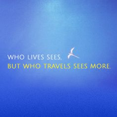 Who lives sees, but who travels sees more. Island Insight from Bermuda!