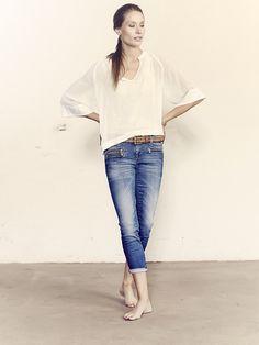 Mos Mosh //tia_tank Sky_lace_top berlin_zip_7-8_denim_jeans malaga_leather_belt