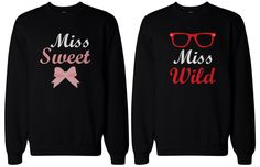 BFF Gift, BFF Accessories, BFF shirts - Sweet and Wild Sweaters for Best Friends *********amazon .com*********
