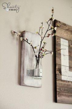 DIY Coffee Bottle Wall Vase