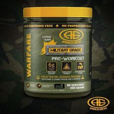 Introducing new Warfare Citrus Slam - stevia sweetened pre-workout! SHARE THIS POST FOR YOUR CHANCE TO WIN A FREE BOTTLE! . Are you just going to the gym to trainor are you going to wage WAR?! In order to force muscle growth you have to use sufficient intensity. Warfare pre-workout is designed to deliver maximum energy and focus while at the same time creating REAL nitric oxide pumps and REAL muscle growth. Youve never experienced a full force pre-workout like this! . Per 2 scoops: 6000mg…