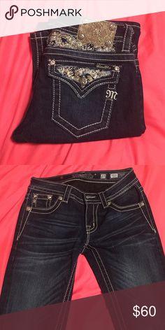PRICE REDUCED NEW Miss me jeans size 27 Never worn slim boot cut dark denim miss me brand jeans Miss Me Jeans Boot Cut