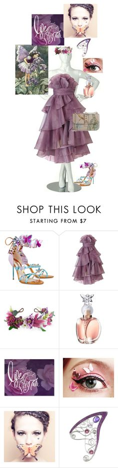 """""""fairy"""" by nurafnim ❤ liked on Polyvore featuring Sophia Webster, Ariella, Rock 'N Rose, Anna Sui, Trademark Fine Art, Paperself and Valentino"""