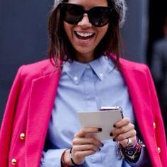 Natasha Goldenberg @ngoldenberg #style #street #styling #stylish #fashion #fashionable #fashionweek #girl #pink #sunglasses #luxury