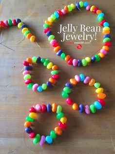 How to Make Jelly Bead Jewelry for #Easter This edible #craft is so fun to make with the kids! MarlaMeridith.com ( @marlameridith )