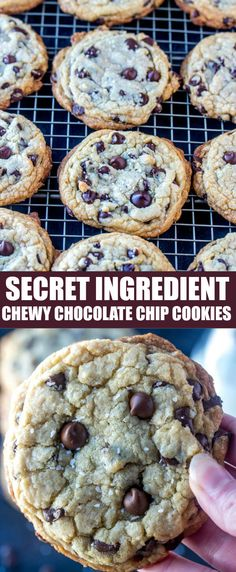 You'll fall head over heals for my Secret Ingredient Chewy Chocolate Chip Cookies that once you try them you'll never want to go back to any other recipe! #cookies #chocolatechip #chewy #dessert #easy #baking