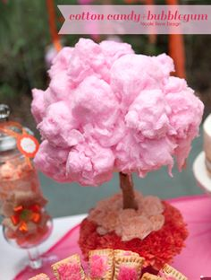 Why not make Cotton Candy Trees at your Party