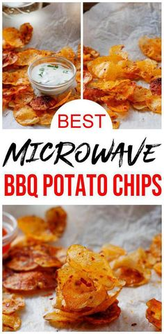 Easy & simple microwave recipe everyone loves. Learn how to make Microwave BBQ Potato Chips w/ this quick recipe. Great for lunch, dinner, side dish, college dorm room food & more. Check out this microwave recipe now :) Potato Chips Homemade, Microwave Potato Chips, Easy Microwave Recipes, Microwave Meals, Mug Recipes, Quick Recipes, Potato Recipes, Cooking Recipes, Cooking Chips