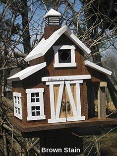 Amazon.com: Barn Birdhouse, Rustic Barn Birdhouse, Primitive Barn Birdhouse,: Handmade