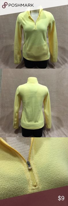 Danskin  Fleece Sweater Danskin Fleece Swearer, color is a lemony yellow. Size S. Very cozy & warm. Great condition! I'm offering 30% off 3+ items in my closet. Check it out for a BIGGER SAVINGS. Danskin Sweaters