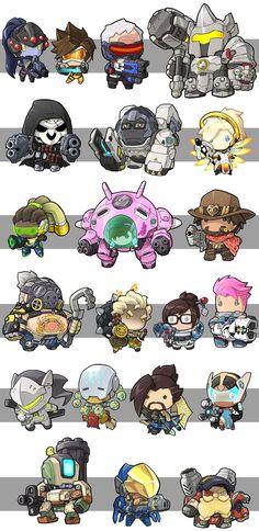 Overwatch Chibis