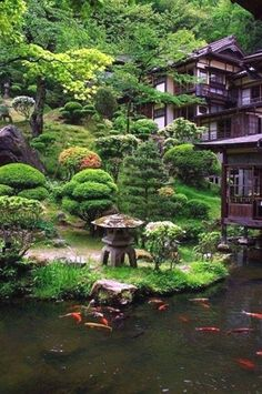 15 Most Popular Asian Garden Design Inspiration for Your Backyard - Home Bigger Asian Garden, Japenese Garden, Chinese Garden, Japanese Garden Design, Japanese House, Japanese Style, Japanese Garden Plants, Japanese Garden Landscape, Japanese Temple