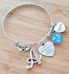 Sympathy Bracelet Sympathy Gift In Memory of Son Memorial Bracelet Loss of Son Loss of a Child Remembrance Bracelet Remembrance Jewelry by KainsBoutique on Etsy