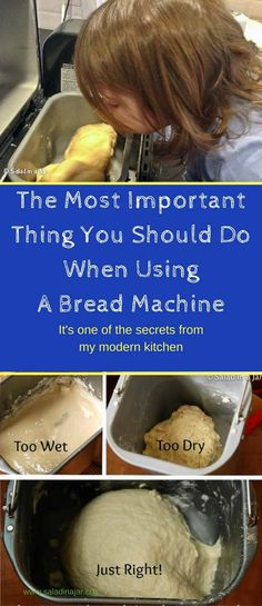 The Most Important Thing You Should Do When Using A Bread Machine, How to be successful with a bread machine, tips Whole Wheat Bread Machine Recipe, Bread Machine Mixes, Bread Machine Rolls, Easy Bread Machine Recipes, Bread Machines, Bread Maker Recipes, Bread Rolls, Bread Making, How To Make Bread