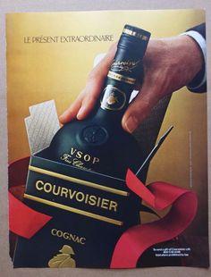 vintage Courvoisier print ad advertisement alcohol cognac champagne
