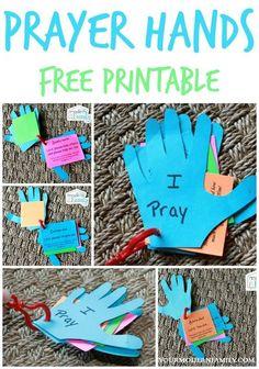 DIY prayer hands for kids - preschool bible class ideas Children's Church Crafts, Vbs Crafts, Preschool Crafts, Toddler Church Crafts, Easter Crafts, Hand Crafts, Daycare Crafts, Free Preschool, Felt Crafts