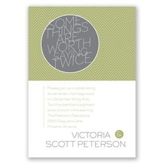worth it - wedding vow renewal invitation I also available in purple, pink and blue! and your picture can go on the back!