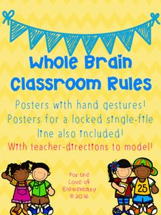 Do you love Whole Brain Teaching?Are you just beginning Whole Brain Teaching? Well this packet with the Whole Brain Teaching Rules is just what you need for your classroom! This packet includes specific teacher directions on how to set up and model your teaching of the Whole Brain Rules along with posters that model the motions used with each rule. -RULE 1- FOLLOW DIRECTIONS QUICKLY-RULE 2- RAISE YOUR HAND FOR PERMISSION TO SPEAK-RULE 3- RAISE YOUR HAND FOR PERMISSION TO LEAVE YOUR…