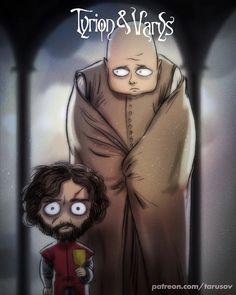 Game Of Thrones: Se i protagonisti fossero disegnati da Tim Burton - Nerdmovieproductions