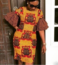 Check Out These Kente Vs Ankara Styles - Sisi Couture Ankara Gown Styles, Ankara Gowns, Ankara Dress, African Traditional Dresses, Traditional Fashion, African Wear, African Dress, African Style, Ella Home