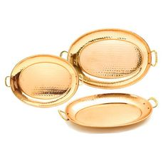 Oval Copper Tray Set Of 3, $109, now featured on Fab.