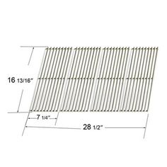 Heavy Duty BBQ Parts 68744 Gloss Cast Iron Cooking Grid for Char-Broil/Master Forge Brand Gas Grills