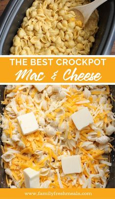 The Best Creamy Crockpot Mac and Cheese recipe from Family Fresh Meals slowcooker crockpot macandcheese pasta kidapproved thanksgiving christmas holidayrecipe familyfreshmeals Slow Cooker Huhn, Slow Cooker Recipes, Cooking Recipes, Meal Recipes, Recipes Dinner, Healthy Recipes, Dessert Recipes, Potluck Recipes, Recipes