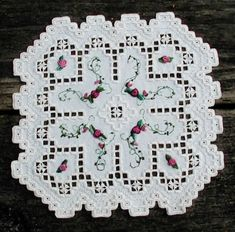 One of the first pieces of Hardanger to which I added Brazilian embroidery 25 years ago.
