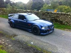 BMW E36 M3 Turbo blue widebody