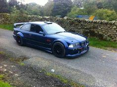 BMW E36 M3 Turbo blue widebody