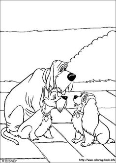 Lady and the Tramp coloring picture
