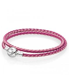 leather - buy fabulous pandora bracelets unique moments, leather, rose gold and silver designs, up to off all the latest must have looks! Pandora Uk, Cheap Pandora, Pandora Leather, Leather Charm Bracelets, Pandora Bracelet Charms, Rose Gold, Charmed, Pink, Silver