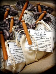 Old Fashioned Bath Tea Gift Set by SuperSimpleSoaps on Etsy, $7.00