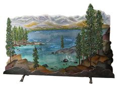 Crystal Glass Studio - Architectural Glass, Lighting, Giftware  ::  Tahoe Fireplace Screen