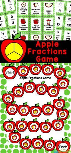 This Apple Fraction Game is a great way to work on equivalent fractions while playing a fun apple game. Use this free printable fraction game as part of an apple mathactivity for September or fraction study or for extra work. Thisapple printable is perfect for first grade, 2nd grade, 3rd grade, 4th grade, and 5th grade students. Simply print theapple fractionsand you are ready to play and learn with a cutefraction apple activity.