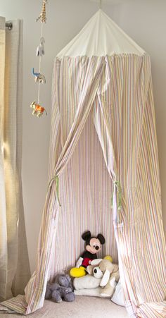 Mock-circus tent to put above babyu0027s crib. & hoolahoop bed canopy aka magic linen tent. | Make This ...