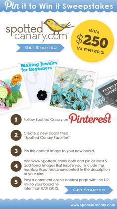 Spotted Canary Favorites: Pin It to Win It Sweepstakes #spottedcanarycontest