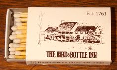 The Bird & Bottle Inn, NY. Diamond Slim 20 stick #matchbox - To order your business' own branded #matchbooks or #matchboxes GoTo: www.GetMatches.com or CALL 800.605.7331 Today!