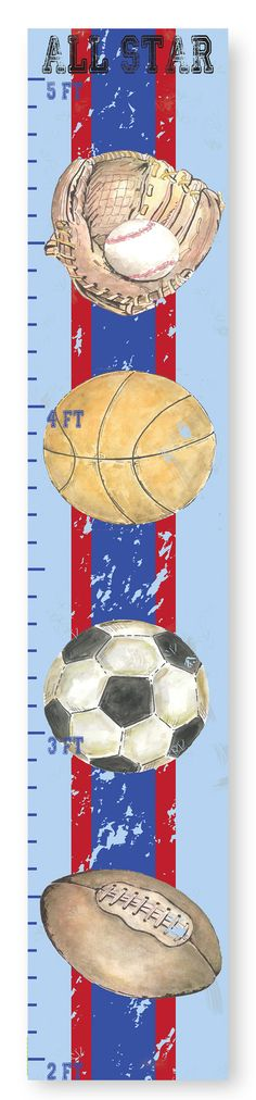 The Kids Room Sports Growth Chart