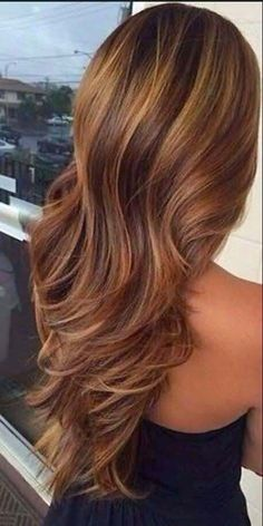Great Design of Caramel and Honey Highlights for Dark Brown Hair and Fashion Style