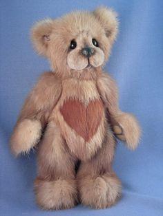 Mink OOAK Artist Teddy Bear: Mink Teddy Bear custom made from your mink stole