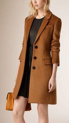 Fitted Virgin Wool Llama Hair Coat