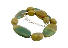 Statement necklace with green agate For her Gemstones Agate stones Green olive-green Unique Perfect gift Women Mother's Day gift OOAK - pinned by pin4etsy.com