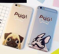 Cute but sad pugs - CaseApp